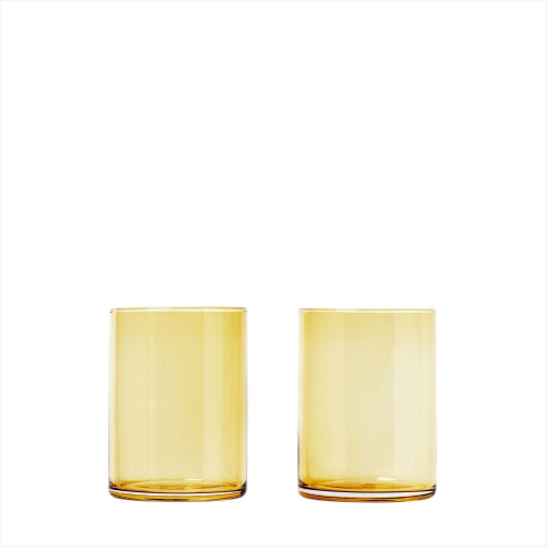 Blomus mera,set 2 tumblerglas, dull gold