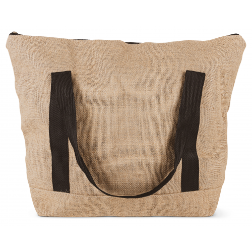 Bercato Beach bag jute h:40,l:35,w:17cm handle:23cm H:40,L:35,W:17cm Handle:23cm - Bercato